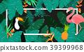 Tropical Background. Summer Design. Vector. 39399968