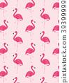 flamingo, pattern, seamless 39399999