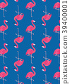 flamingo, pattern, seamless 39400001