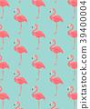 flamingo, pattern, seamless 39400004