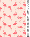 flamingo, pattern, seamless 39400006