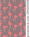 flamingo, pattern, seamless 39400008