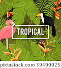 Tropical Background. Summer Design. Vector. 39400025