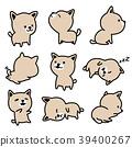 Dog breed french bulldog vector illustration Puppy 39400267