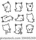 Dog vector illustration breed french bulldog Puppy 39400269