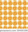圓片橙色對齊圖案(水彩風格) 39400396