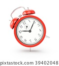 3D rendering red alarm clock isolated on white 39402048