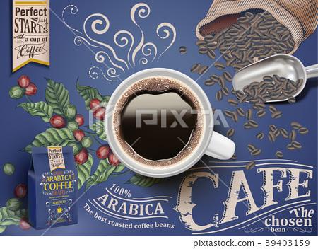 Black coffee ads 39403159