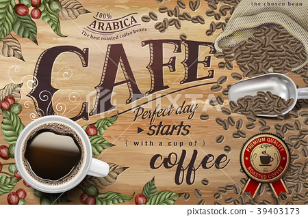 Black coffee ads 39403173