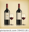 Red wine bottle 39403181