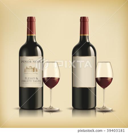 Red wine bottle 39403181