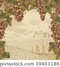 Engraving grape and leaves 39403186