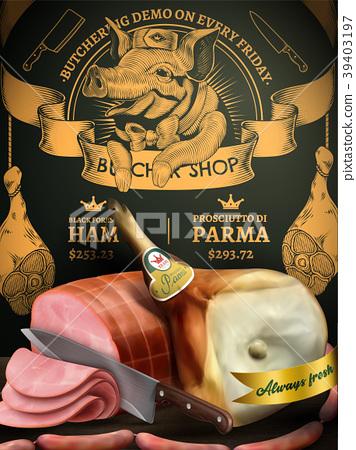 Butchery shop promotion ads 39403197