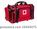 Modern portable doctor red bag isolated 39404075