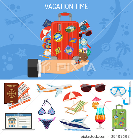 Vacation and Tourism Banner 39405598