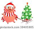 pig, christmas, tree 39405905