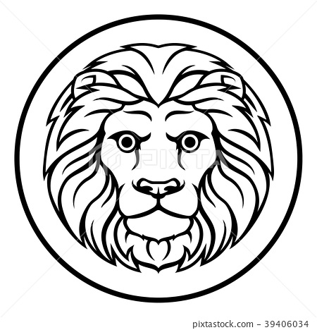 Leo Lion Horoscope Zodiac Sign - Stock Illustration [39406034] - PIXTA