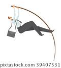 Businessman, a man in a business suit doing pole 39407531