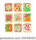 Vector set of sandwiches with different 39408483