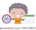 Kid Boy Lesson Time Days Weeks Months Illustration 39410820