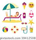 vector, summer, holiday 39412508