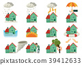 vector flat house insurance concepts set 39412633