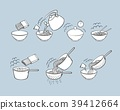 Black and white noodle, pasta cooking instructions 39412664