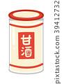 Illustration material of sweet sake 39412732