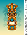 Wooden Tiki mask 39413379