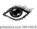 Eye. Hand drawn sketch 39414018