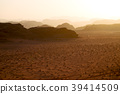 in   desert the sunrise panoramic scene and light 39414509