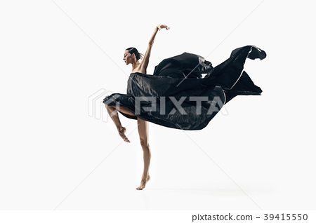 Aerobics fitness woman exercising isolated in full 39415550