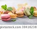 French assorted macarons 39416238