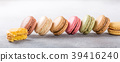 French assorted macarons 39416240