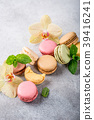 French assorted macarons 39416241