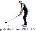 man golfer golfing isolated withe background 39416377