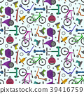Colorful pattern with city teenager transport 39416759