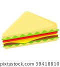 sandwich, vector, fast 39418810