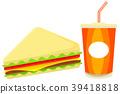 sandwich, vector, fast 39418818