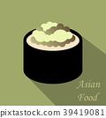 Cute roll character with caviar, Ikura Gunkan 39419081