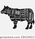 cow, animal, set 39420922