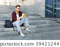 student, attractive, stairs 39421244
