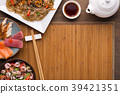 Asian style food, restaurant serving 39421351