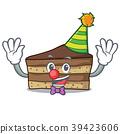 Clown tiramisu mascot cartoon style 39423606