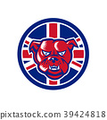 British Bulldog Union Jack Flag Icon 39424818