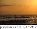 서핑 노을 39425917