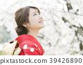 A woman wearing a kimono with a kimono 39426890