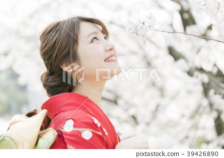 kimono, cherry blossom, cherry tree 39426890