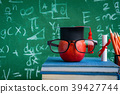 Apple Knowledge Symbol and Pencil Books 39427744