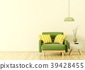 Interior with armchair and side table 3d rendering 39428455